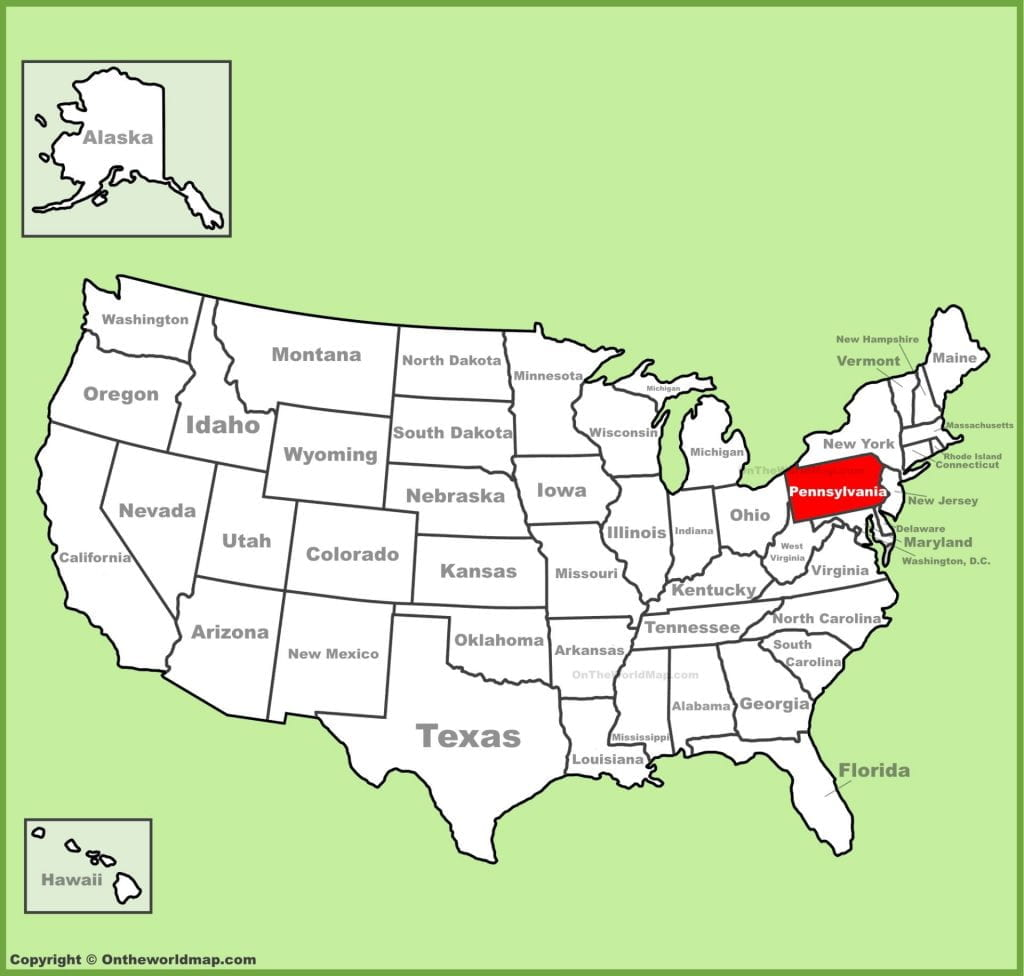 Pennsylvania is in the NorthEast Region of our Country